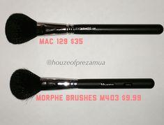 MAC 129 brush dupe. Morphe Brushes M403 brush.