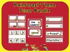 Rainforest Jungle Themed Classroom Decor Bundle on TPT