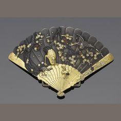 Bonhams 1793 : A copper and gold 'Shakudo' buckle,