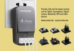 4port usb travel wall charger #multiCharger #wallCharger 2.4a x2 , 1.0a x2