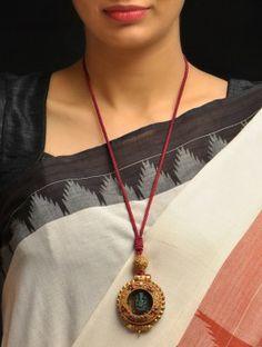 Ganesha Coral-Turq Necklace