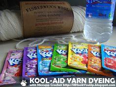 Supplies Needed: Natural Fiber, Dye, Water and Vinegar #NiccuppCrochet
