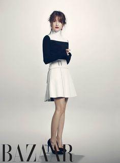Yoo Ah In and Jung Yumi - Harper's Bazaar Magazine October Issue '13