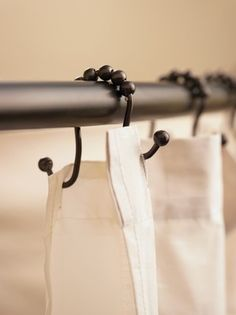 Moen Old World Bronze Double shower Curtain liner Rod hooks...so convenient and easy to use