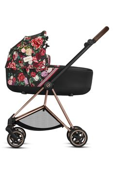 Infant Cybex Sprint Blossom Mios Lux Carrycot, Size One Size - Black Stroller Storage, Dog Stroller, Umbrella Stroller, Baby Strollers, Doona Car Seat, Car Seats, City Select Double Stroller, Best Travel Stroller, Cute Diaper Bags