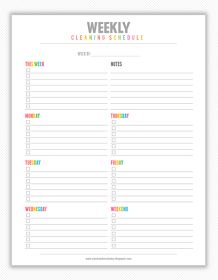 My Strawberry Baby: Free Printable Weekly and Monthly Cleaning Planner
