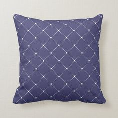 Modern Navy Blue Diagonal Dotted Lines Pattern Throw Pillow | Zazzle.com (sponsored) Navy Blue Throw Pillows, Decorative Throw Pillows, Royal Blue Background, Dotted Line, Line Patterns, Dog Design, Blue Backgrounds, Typography Design, Modern Design