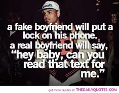 The caption read: A real boyfriend does not put a lock on his phone. Description from sociallydecrepit.tumblr.com. I searched for this on bing.com/images