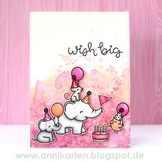 Hey stampers, Anni here! Today I have a very PINK card for you. I wanted to make a card with this super cute set called Elphie Selfie by ...