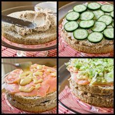 boterhamtaart leuk voor een buffet #high_tea #kinderfeestje #kookfeestje