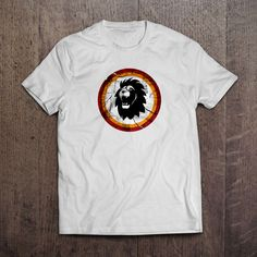 Beyaz Kumaş üzerine dijital baskı Circle King T-Shirt 29,99TL
