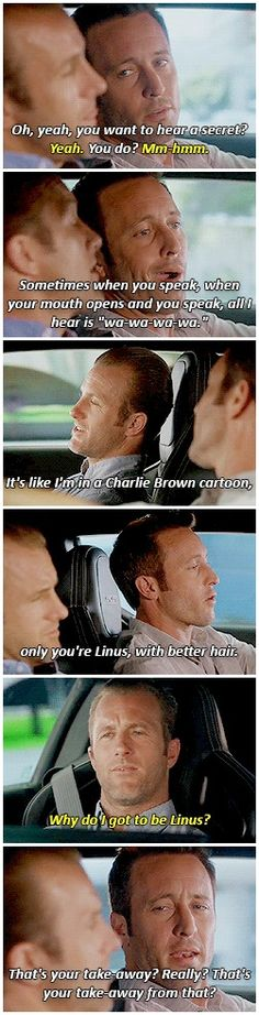 """that's your take away"" hahaha h50: 6x02"