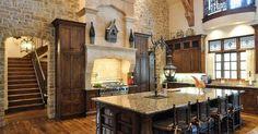Mediterranean Rustic Tuscan Kitchen with Stone Wall – in my dreams! Mediterranean Rustic Tuscan Kitchen with Stone Wall – in my dreams! Architecture Design, Plans Architecture, Tuscan Design, Tuscan Style, Mediterranean Style, Style At Home, Küchen Design, House Design, Interior Design