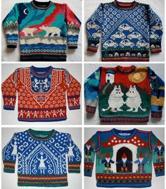 if i had a child, my child would have about 10 of these handmade moomin sweaters. Not joking.