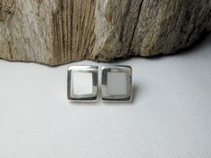 Classic Sterling Silver White Mother Pearl Square Earrings,Mother Pearl Earring,Square Earring,Pierced Earring,Shell Earring,Gifts For Her by Supsilver on Etsy