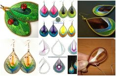"""Earrings in engineering """"ganutell."""" Earrings in engineering """"ganutell."""",I would like to offer you an interesting idea how to make cute earrings with their hands! To begin with several design options, well, at the end of the class!"""