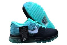 reputable site 9f3dd 129fd Men s Woman s Nike Air Max 2017 Flyknit Shoes Black Jade Green White   1-1709AXMU-71  -  72.00