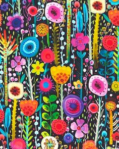 eQuilter Kaffe Fassett's Quilts in the Cotswolds Painting Inspiration, Art Inspo, Funky Art, Abstract Flowers, Doodle Art, Painting & Drawing, Flower Art, Stencil, Art Projects