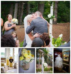 Yellow and Grey, Wooded Wedding at Oakhurst, Clarkston, MI: Tiffany + Frank — Courtney Carolyn Photography
