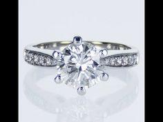 Set with 2 carats center diamond 2 Carat, Martini, Diamonds, Stones, Engagement Rings, Usa, Jewelry, Jewellery Making, Rocks