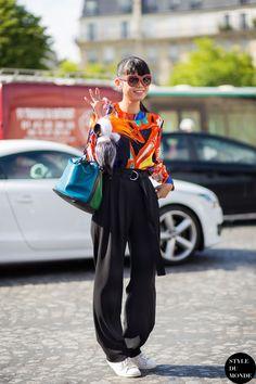 Leaf splashing some colour about with a Celine/Fendi/Louis Vuitton combo. Paris. #LeafGreener