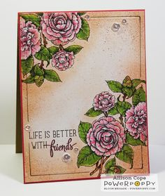 Camellias Digital Stamp Set