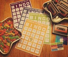Free printable Bingo cards for your Guardians of the Galaxy Movie Night #OwnTheGalaxy #ad