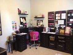 Trendy Home Office Organization Diy Business Craft Rooms Ideas Apartment Kitchen Organization, Office Organization At Work, Office Ideas, Craft Organization, Craft Desk, Diy Desk, Craft Rooms, Office Shelving, Shelves