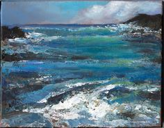 'Water original acrylic painting on canvas by Diane Caswell Christian Ebay Paintings, Acrylic Painting Canvas, Artist Painting, Worlds Largest, Auction, Waves, Christian, The Originals, Outdoor