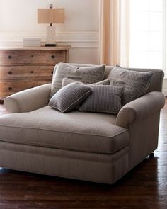 Chaise - would be lovely in the window nook of the master bedroom paired with an ottoman