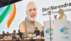 Prime Minister, Shri Narendra Modi addressing at the Maritime India Summit, in Mumbai on April 14, 2016. The Governor of Maharashtra, Shri C. Vidyasagar Rao, the Union Minister for Road Transport & Highways and Shipping, Shri Nitin Gadkari, the Chief Minister of Maharashtra, Shri Devendra Fadnavis, the Chief Minister of Gujarat, Smt. Anandiben Patel, the Minister of State for Road Transport & Highways and Shipping, Shri P. Radhakrishnan and the Secretary, Ministry of Shipping, Shri Rajive…