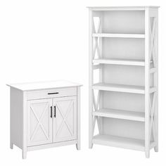 Beachcrest Home Cyra L Shaped Desk & Reviews | Wayfair Laptop Storage, Desk Storage, Built In Storage, Tall Bookshelves, 5 Shelf Bookcase, Desk With Keyboard Tray, Secretary Desks, White Oak, Pure White