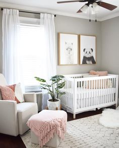20 Baby Girl Room Ideas (The Cutest Overload) Baby nursery ideas √ 27 Cute Baby Room Ideas: Nursery Decor for Boy, Girl and Unisex 📷 shared by Designer Baby, Baby Room Design, Nursery Design, Design Bedroom, Baby Nursery Decor, Baby Decor, Themed Nursery, Nursery Gray, Simple Baby Nursery