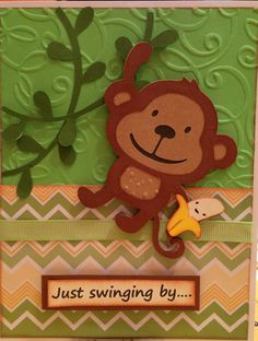 Monkey Birthday Card for a child