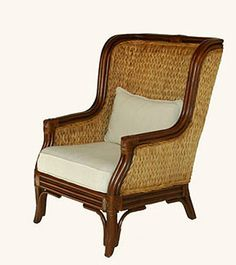 East Indies Home. Rattan Wing-Back