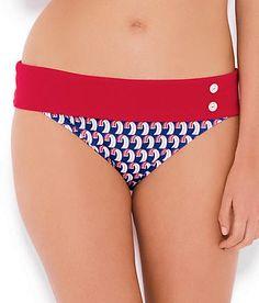 Fantasie Chicago Gathered Bikini Brief Bottoms Pant 5593 Swimwear Black//White