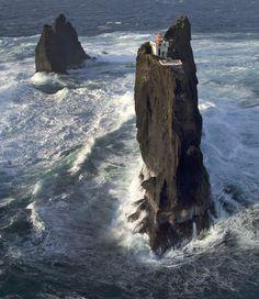 Iceland ÞRÍDRANGAR ROCKS