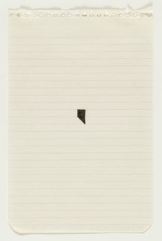 Richard Tuttle 1975 #64, 1975 Felt-tip pen and pencil on notebook paper 7 3/4 x 5""