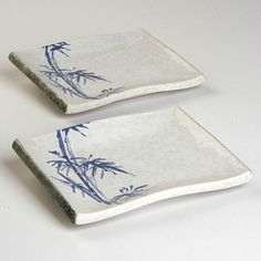 Vintage Deadstock Bamboo Sushi Plates Pair, $30, now featured on Fab.