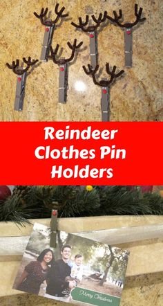 Clothes Pin Reindeer - http://www.foxysdomesticside.com/2012/12/clothes-pin-reindeer.html
