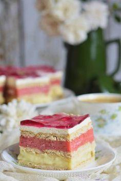 3 bit owocowo sernikowy Vanilla Cake, Cheesecake, Food, Cheesecakes, Essen, Meals, Yemek, Cherry Cheesecake Shooters, Eten