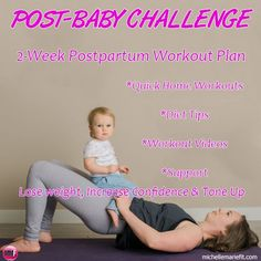 Post-Pregnancy 14 Day Workouts & Weight Loss Plan  Get your confidence back.  No gym required. #PostPregnancy