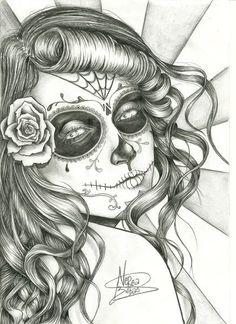 Sugar Skull girl. -Nerea Bilbao