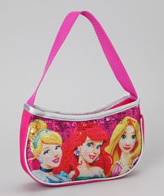 Take a look at this Disney Pink Sequin Princess Shoulder Bag by Disney on #zulily today!