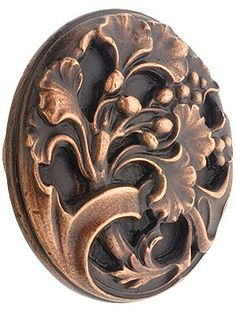 "Ginkgo Leaf Cabinet Knob - 1 3/8"" Diameter 