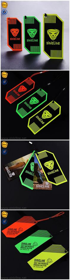 Colorful hang tags for sportswear. Can be customized with your logo. Contact us at info@sinicline.net. #hangtag #graphicdesign