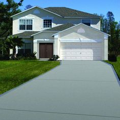 8000 Gulf Grey Low Sheen Exterior Waterborne Acrylic Concrete - The Home Depot Exterior Paint, Interior And Exterior, Garage Floor Paint, Asphalt Driveway, Slippery When Wet, Stained Concrete, Pool Decks, Sprinkler, Walkway