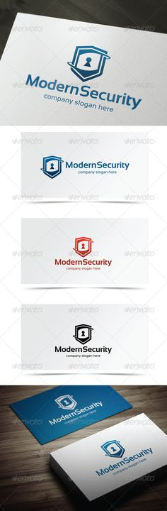 Modern Security - Logo Design Template Vector #logotype Download it here: http://graphicriver.net/item/modern-security/5698724?s_rank=1228?ref=nexion