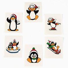 "72 Penguin Tattoos - Kids Temporary Tattoos by Party902. $4.00. 72 Penguin Tattoos. Non-Toxic. 72 Assorted 1.5"" x 1.5"" Tattoos. Temporary Kids Tattoos. 72 Penguin Tattoos"
