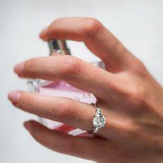 A little spritz, a little #sparkle //  Tapered baguette diamond engagement…